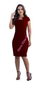 Vestido Feminino Zig Zag Midi Lápis Moda Evangélica