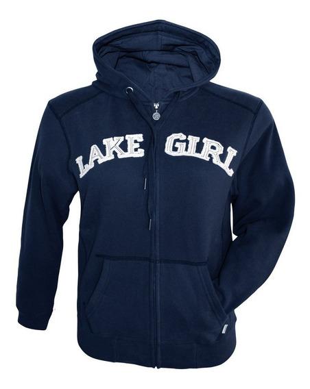 Sueter Dama Lake Girl Blue Con Capucha - Talla S