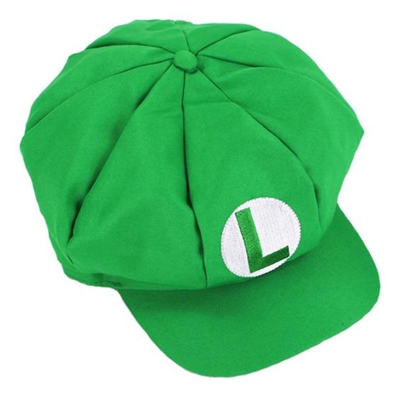 Gorra Roja Super Mario Bros Verde Luigi Video Juegos