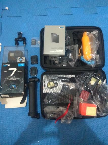 Gopro Hero 7 Black + Cartão 64gb + Bateria + Mala De Aces Nf