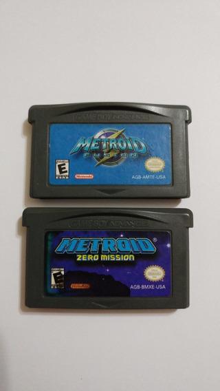 Metroid Zero Mission + Metroid Fusion Originais Americanos!!