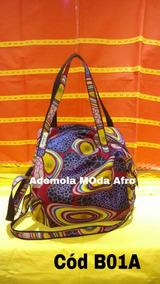 Bolsa Em Tecido Africano - B01a