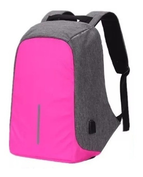 Mochila Antirrobo Smart Carga Usb Notebook Celular Tablet