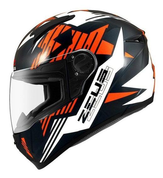 Capacete Zeus 811 Top Gun Al28 Black/orange