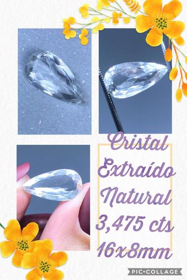 Quartzo 3 475 Cts Gota Natural 16x8 Mm Cristal