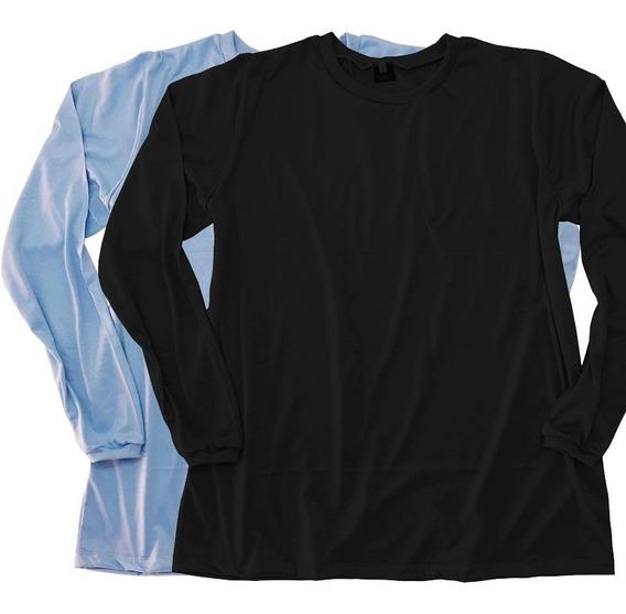 Kit 2 Camiseta Plus Size Manga Longa Gg Ao G8 Unissex Casual