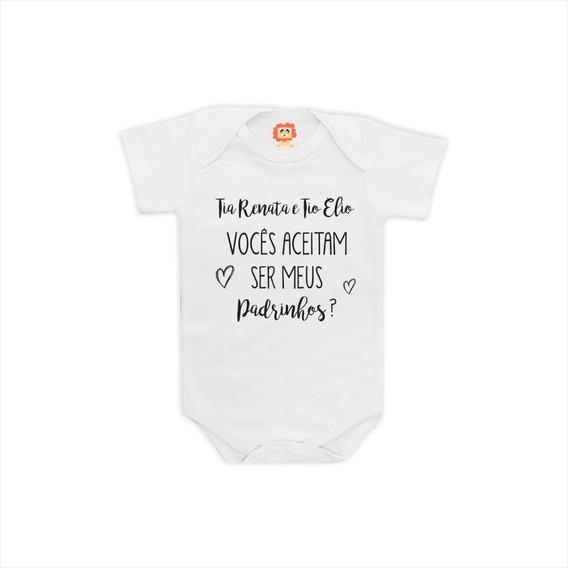 Roupa De Bebe Com Frases Madrinha Roupas De Bebê No