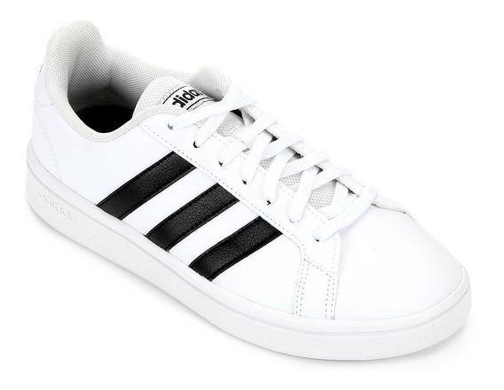 Tênis adidas Grand Court Base - Branco E Preto Original + Nf
