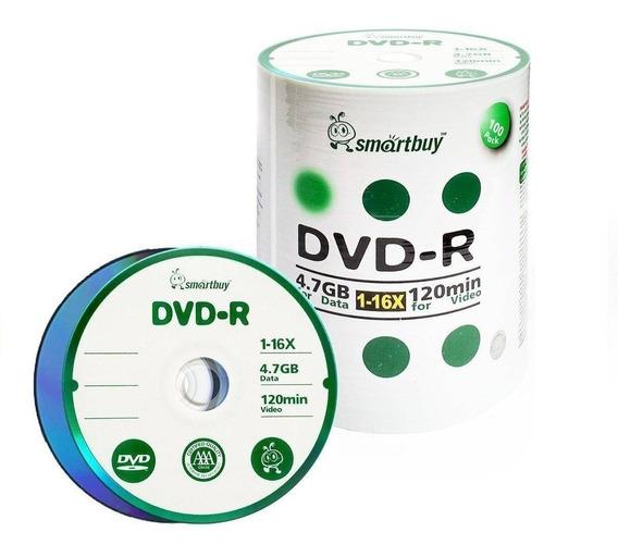 100 Mídias Dvd-r Virgem Smartbuy - 4,7gb 16x