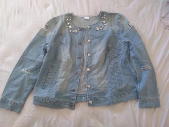 Jaqueta Oversize Jeans Com Pedras