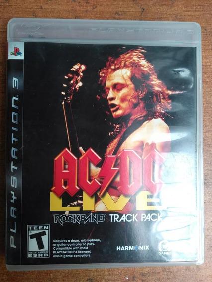 Ac/dc Live Rock Band Track Pack Ps3 Brinde Metalgear Único