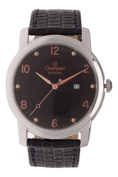 Relógio Champion Ca21160t Couro Preto Original