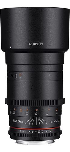 Lente Rokinon 135mm T2.2 Edumc Cineds Olympus, Panasonic Mft