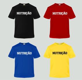 10 Camisa Curso Nutrição 100% Algodão Atacado