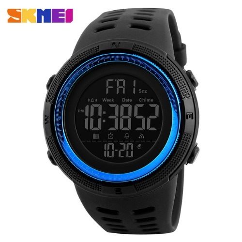 Relógio Skmei De Pulso Importado Esporte Preto/azul Digital