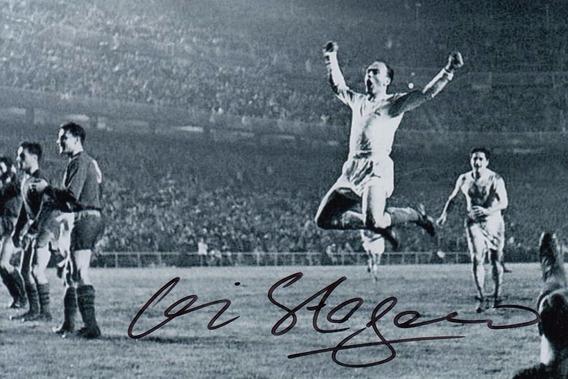 Foto 10 X 15 Con Autografo Alfredo Distefano Firma Original