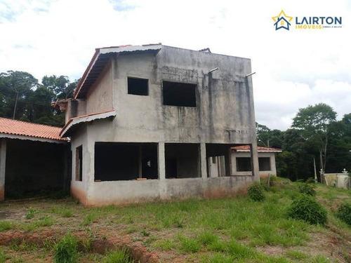 Oportunidade Casa Inacabada Em Condomínio Fechado - Bom Jesus Dos Perdões Sp - Ch1236