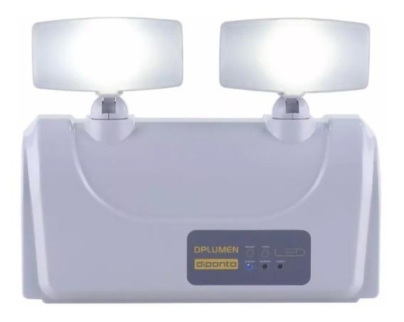 Luminária Luz Emergência Led 2 Faróis 3000 Lums Diponto Full