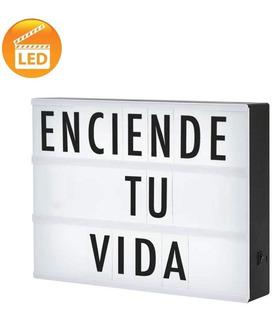 Letrero Con Luz Led Tipo Cine Con Letras Y Símbolos Incluídos