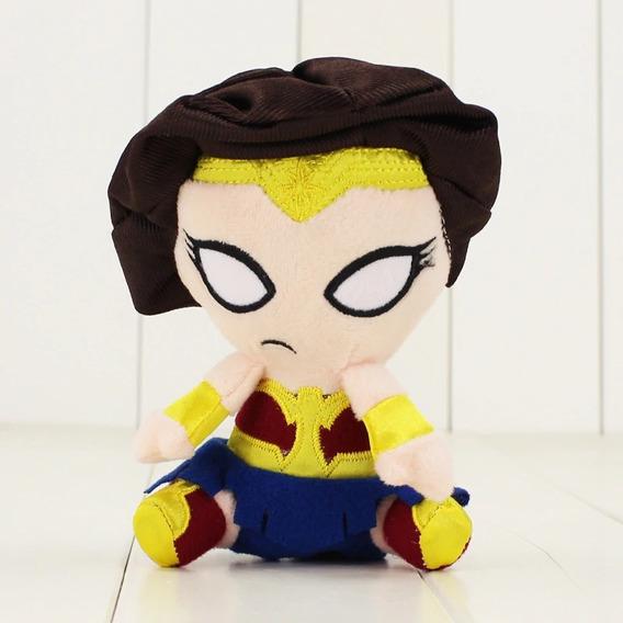 Mini Pelúcia Mulher Maravilha Liga Da Justiça 13 Cm