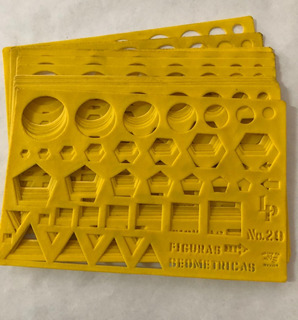Gioser Plantilla Figuras Geométricas No. 20 (19 X 12 Cm)