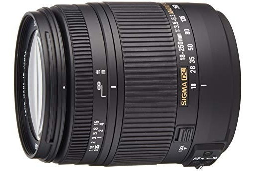 Lente Sigma Dc Macro Os Hsm 18-250mm F3.5-6.3 Para Nikon D