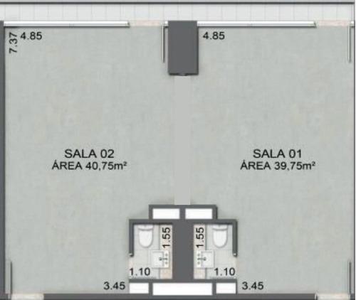 Imagem 1 de 1 de Locação Sala Comercial - Chácara Santo Antônio, São Paulo-sp - Rr3988