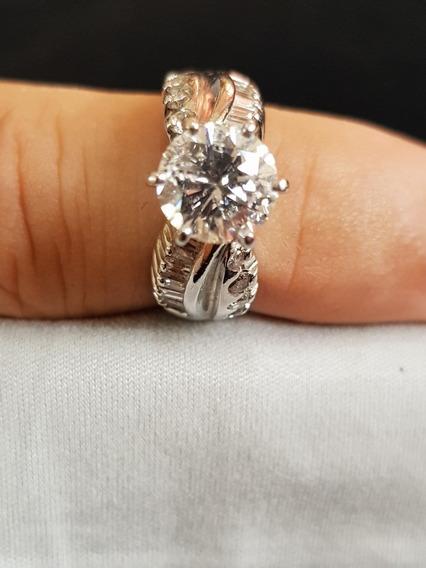 Anillo Impresionante Boda Diamante Natural Grande Oro 14k