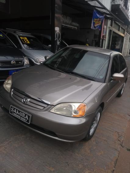 Honda Civic Lx 1.7 Mecânico Completo Com Bancos De Couro