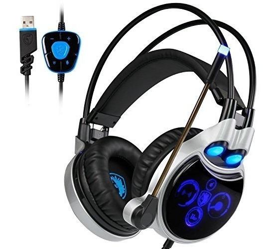 Sades R8 Gaming Headphones Virtual 7.1 Channel Surround Soun
