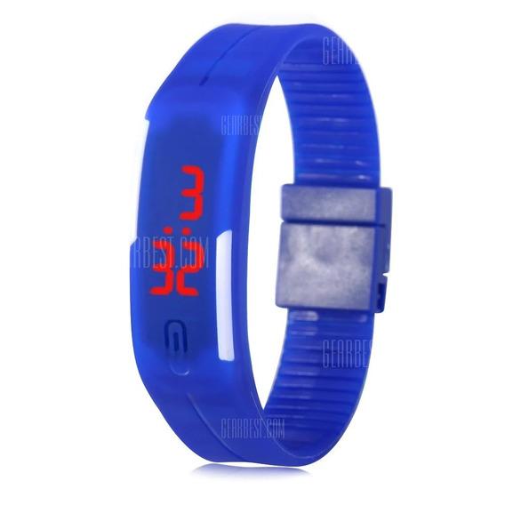 Relógio Led Digital Bracelete Pulseira Silicone