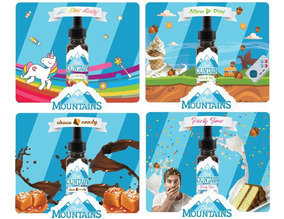 Kit 4 Cloud Mountains 120 Ml De Juice Premium E-liquid