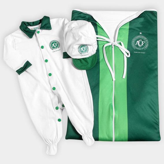 Saída De Maternidade Chapecoense Menino -camisa Branca
