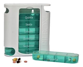 Porta Comprimido Pilulas Pill Box Semanal Pil Box Seven 7