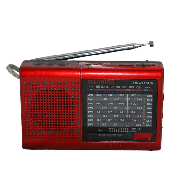 Rádio Haoning Hn-315ua Am/fm/sw Suporte Cartão Tf Mp3