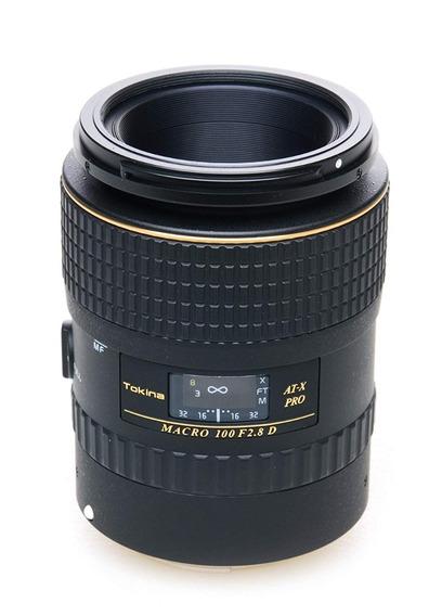 Lente Tokina At-x Macro 100mm F.2.8 Para Nikon