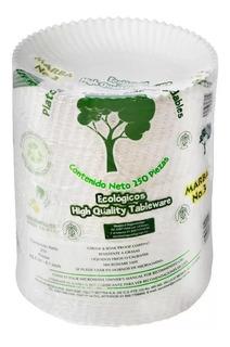 Platos De Cartón Marba Biodegradables Pasteleros De 250 Pzas