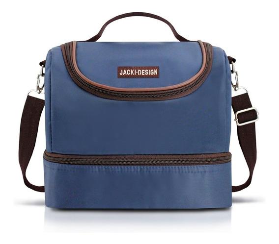 Bolsa Termica Jacki Design Marmita 17398 Azul 2 Divisoes