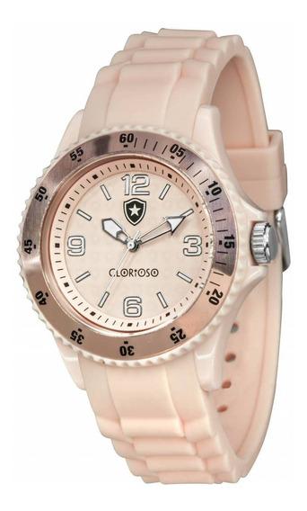 Relógio Oficial Do Botafogo Glorioso - Rosa + Chaveiro De Br