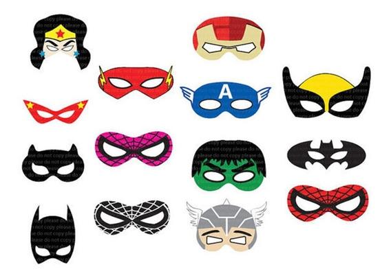 30 Antifaces Super Heroes Avengers Fiesta Mascara Hulk