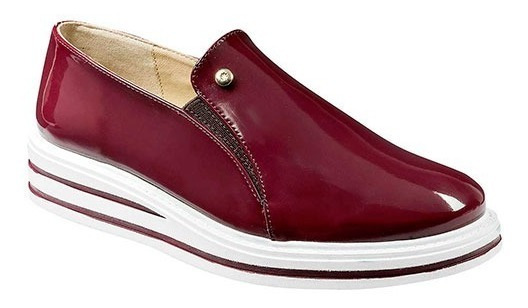 Zapato Para Mujer Casual Marca Moramora 1102 Vino P19a