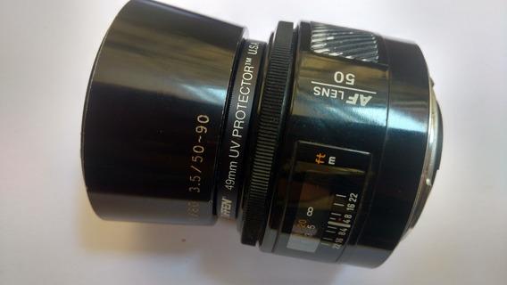 Lente Minolta 50mm 50/1.7 - Filtro 49mm Uv - Capa Lente 60mm