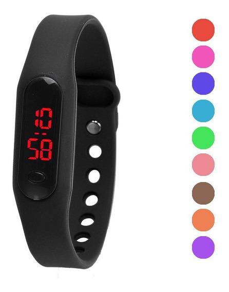 Relógio Led Digital Pulseira De Silicone