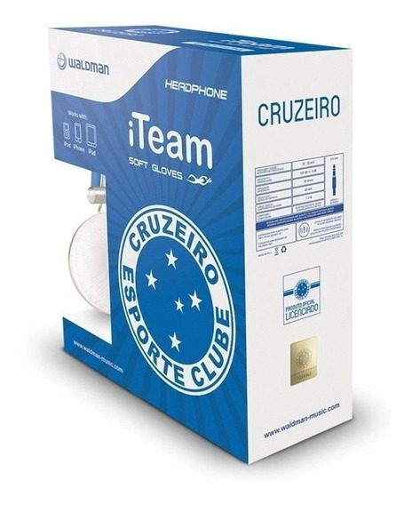 Fone De Ouvido Waldman Headphone Do Cruzeiro