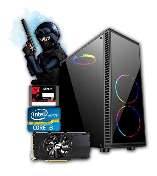 Pc Gamer Core I3 + Rx 550 2gb + 8gb Memória +ssd 240gb