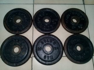 Set De Pesas, Barra Z Y Seis Discos De 2,5 Kg. (40 Vrdes)