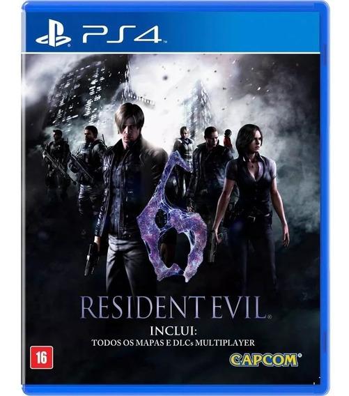 Jogo Resident Evil 6 Ps4 Midia Fisica Novo Nacional Barato