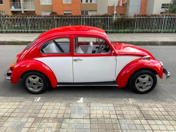 Volkwagen Escarabajo 1961 Alemán Rojo Blanco Recién Pintado