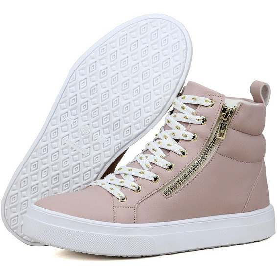 Tenis Botinha Sneakers Fitness Branco