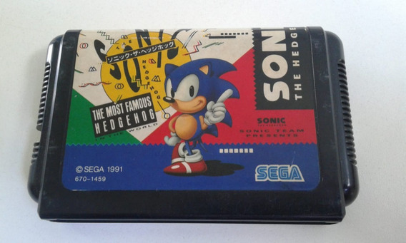 Cartucho Mega Drive Sonic The Hedgehog Original